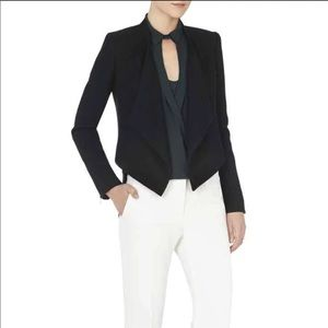 BCBGMAXAZRIA Abbey Cropped Relaxed-Fit Jacket Blk
